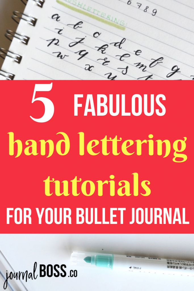 Simple bullet journal font ideas! Pretty up your bujo with these easy hand lettering tutorials.