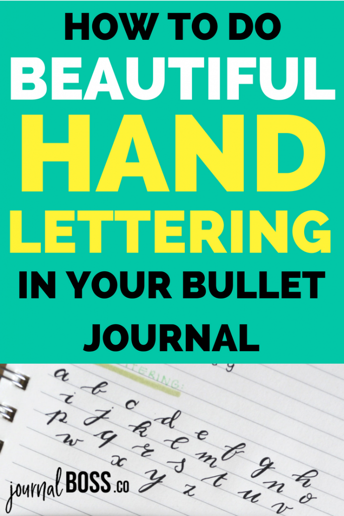 How to do bullet journal fonts. From traditional calligraphy to easy cursive handwriting, these tutorials will teach you how to do perfect hand lettering for your bullet journal! Perfect for bujo title pages and months!