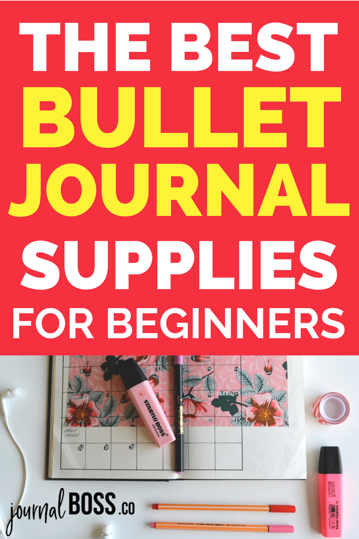 All the best bullet journal supplies you NEED when you set up your bullet journal! Notebooks, pens, washi tape and more... Click through to view my essential bullet journal products.